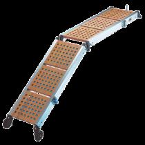 Aluminum gangwayen with wooden steps
