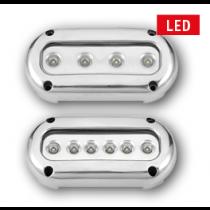 allpa LED Underwater light, Surface mount, 10-30V, Blue / Cool White