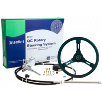 """Safe-T """"QC"""" Steering system with cable + Steering wheel Riviera black"""
