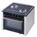 allpa stainless steel oven with 2 stoves